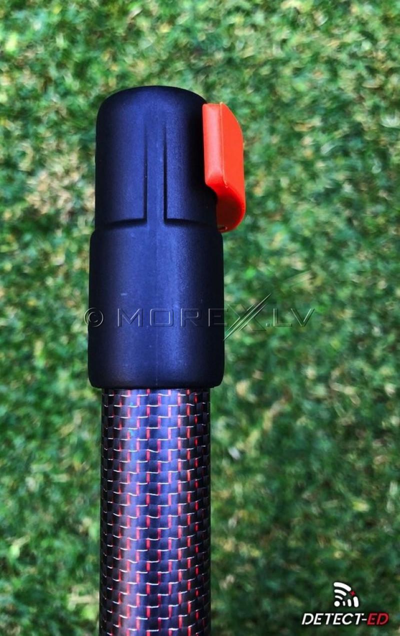 Detect-Ed Верхняя карбоновая штанга для детектора Equinox LS Red-Belly Black