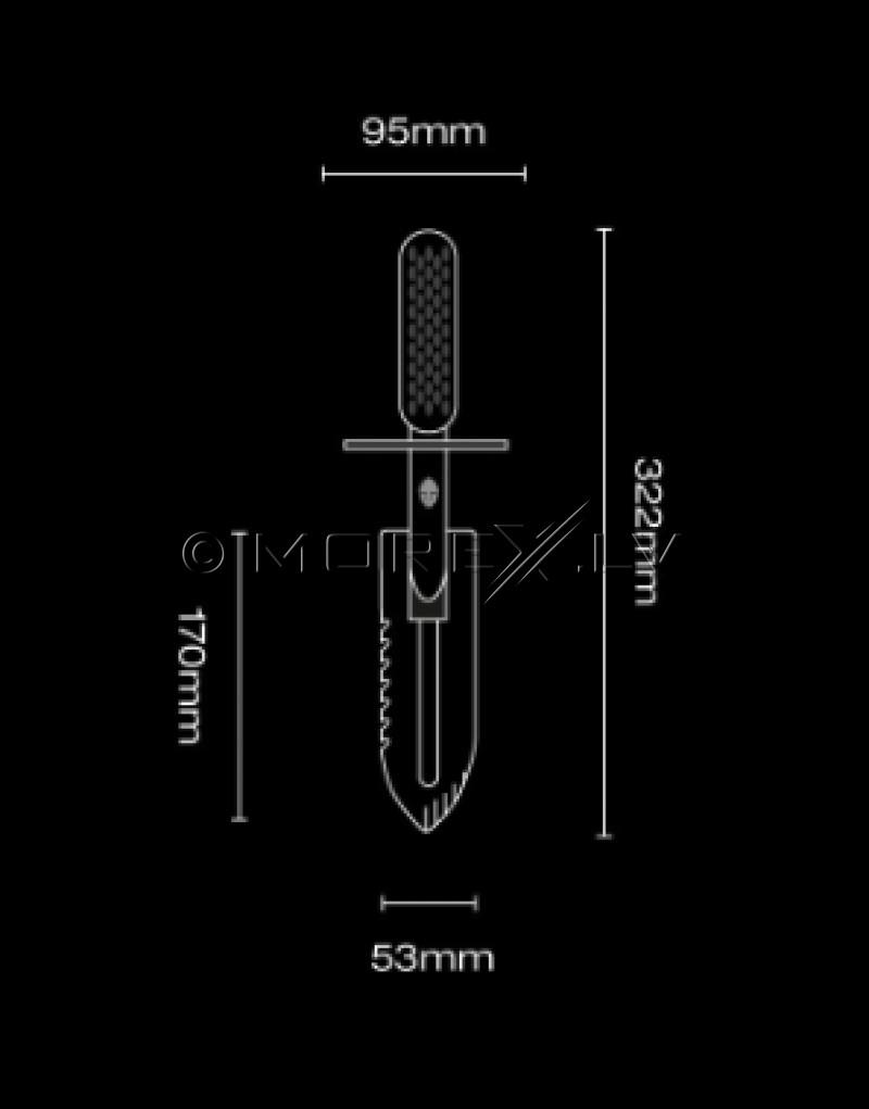 Stainless Steel Shovel Black Ada Stingray (BL011ST)