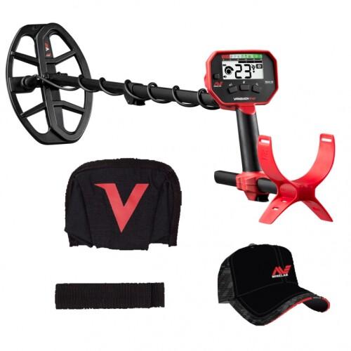 Metal detector Minelab Vanquish 340 (Rain cover + Armstrap + Camo hat)