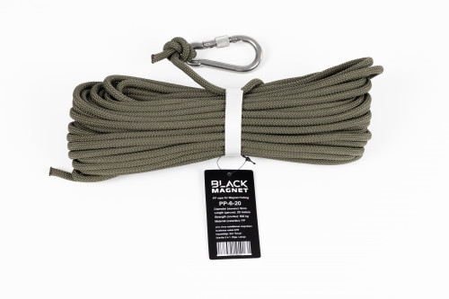 "6 mm x 20 m Rope for Search Magnet ""Black Magnet"""