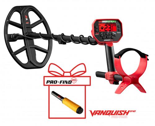 Metāla detektors Minelab Vanquish 540 Pro-Pack + PRO-FIND 20 PinPointer